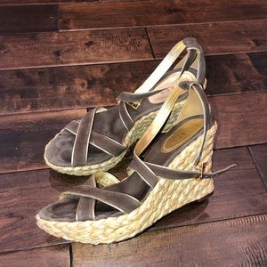 Women's size 9 Ralph Lauren strappy wedge sandals